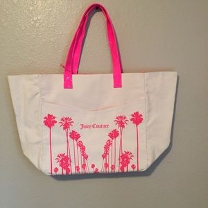 Juicy Couture Canvas Bag with Pink Accents NWT